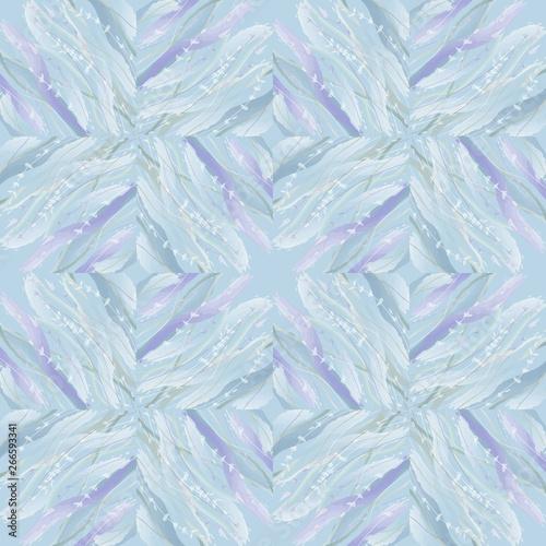 Fototapeta Lavender stalks pattern  on watercolor background