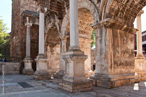 Hadrian's Gate in old town Kaleici in Antalya, Turkey Fototapeta