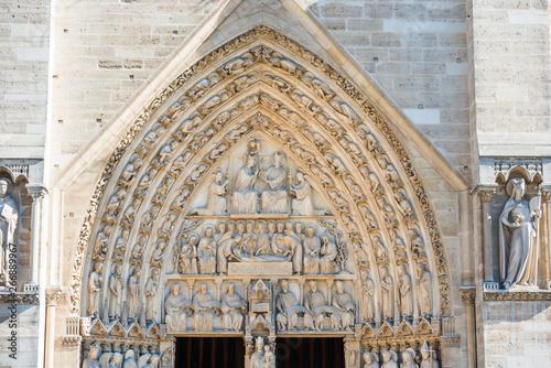 Fotografia Statues of Notre-Dame de Paris