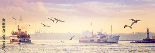Photo Panorama of Istanbul in sunset.