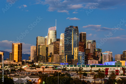 Naklejki na meble Panoramę centrum Los Angeles