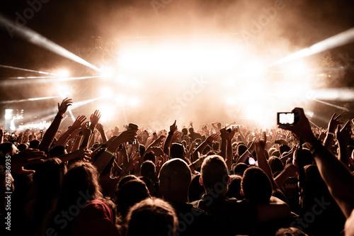 Music festival at night! Fototapeta