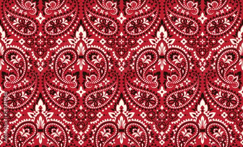 Fotografie, Obraz Seamless pattern based on ornament paisley Bandana Print