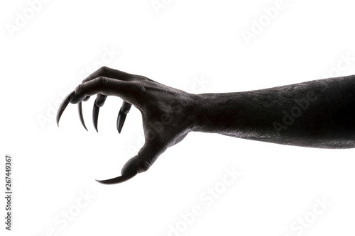 Photo Creepy monster claw isolated on white background with clipping path