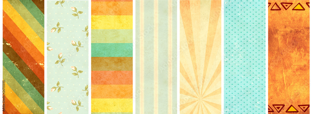 Set of banners with old paper texture