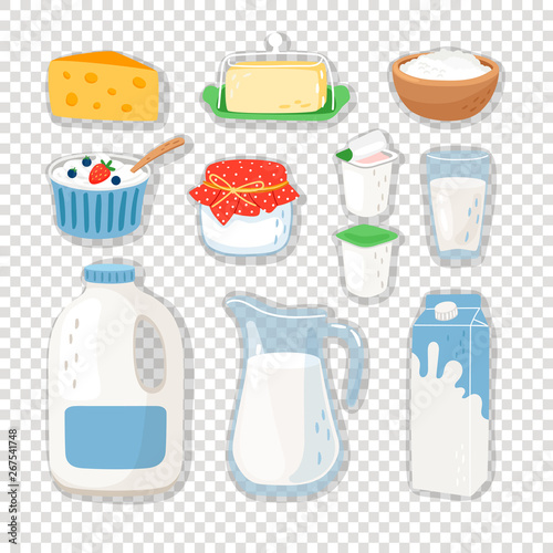 Wallpaper Mural Cartoon dairy products