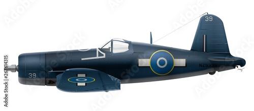 Fotografering F4U-1A Vought Corsair - RNZAF - 22 Sqn 1944