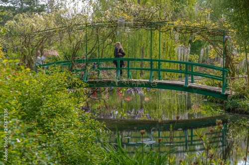 Fototapeta Giverny, France - 05 07 2019: The gardens of Claude Monet in Giverny
