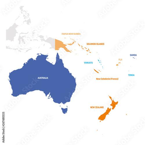 Canvas Print Australia and Oceania Region