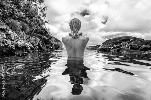 Naked Woman Waterfall