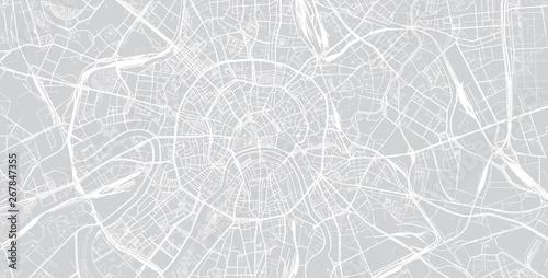 Obraz na plátně Urban vector city map of Moscow, Russia