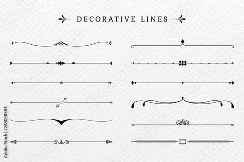Obraz na płótnie Vintage decorative lines collection