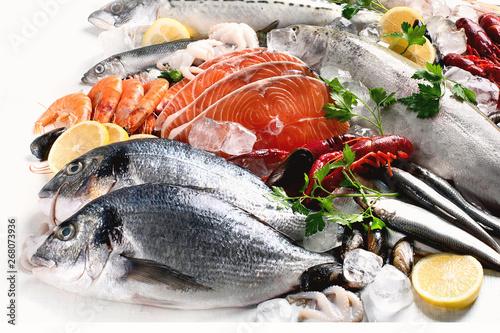 Photo Fresh fish and seafood