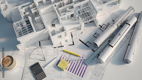 Photographie Apartment building project overview