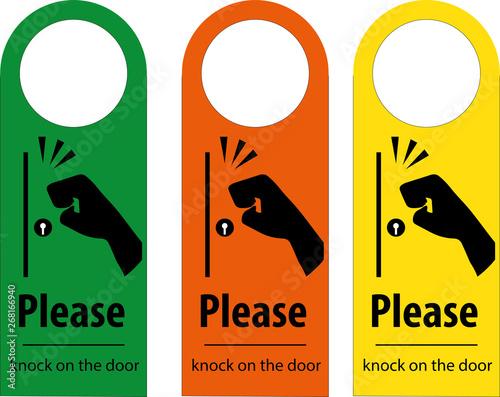 Foto Please knock the door