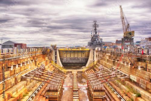 Fototapeta Boston Massachusetts Dry dock