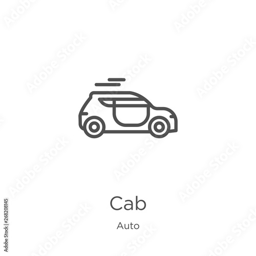 Wallpaper Mural cab icon vector from auto collection