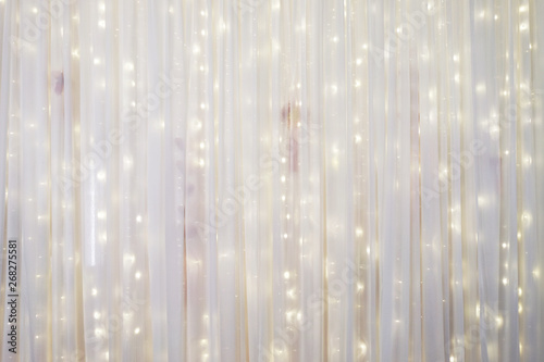 Cuadros en Lienzo White curtain backdrop with small LED lights decoration