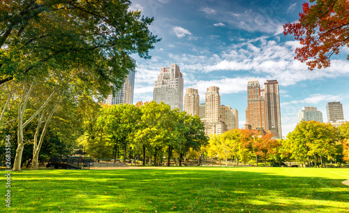 Foto Beautiful foliage colors of New York Central Park
