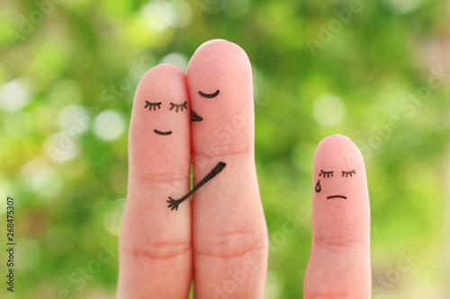Photo Fingers art of happy couple