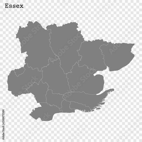 Obraz na płótnie High Quality map is a county of England