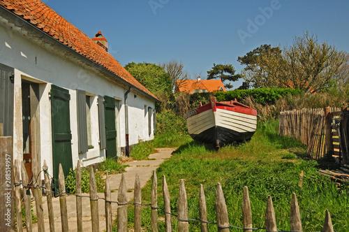 Fototapeta Il villaggio di Wissant,  Pas-de-Calais, Hauts-de-France,