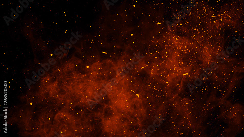 Photo Fire embers particles texture overlays
