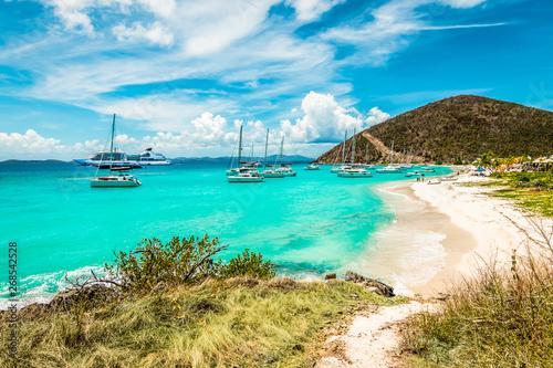 Fototapeta White Bay Beach, Jost Van Dyke, British Virgin Islands.