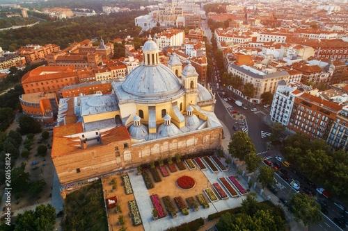 Foto Madrid Royal Basilica of San Francisco el Grande aerial view