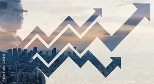 Fotografie, Obraz ビジネスと成長