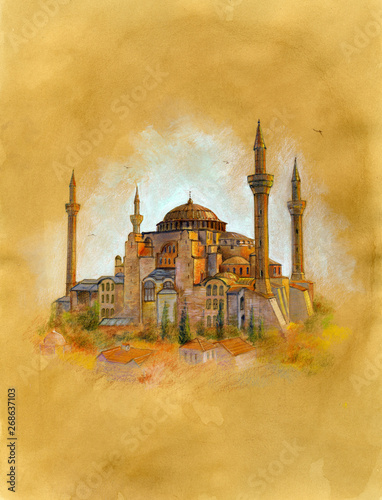 Photo The Hagia Sophia (AYASOFYA) in İstanbul