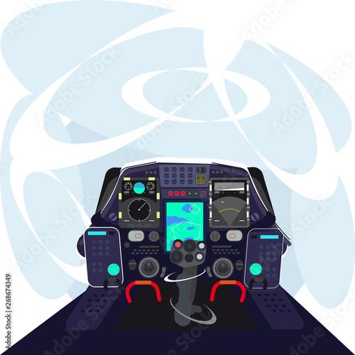 The cockpit of the pilot Fototapet