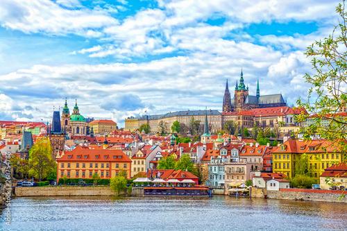 Fotografie, Obraz View of the Prague Castle and St