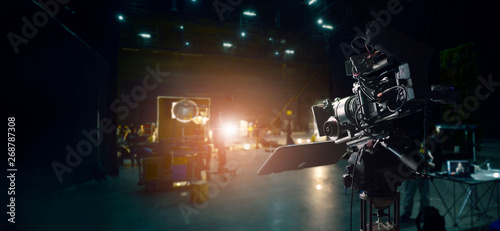 Fotografie, Obraz Behind the scenes of making of movie and TV commercial