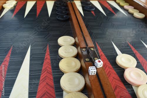 Carta da parati Backgammon board