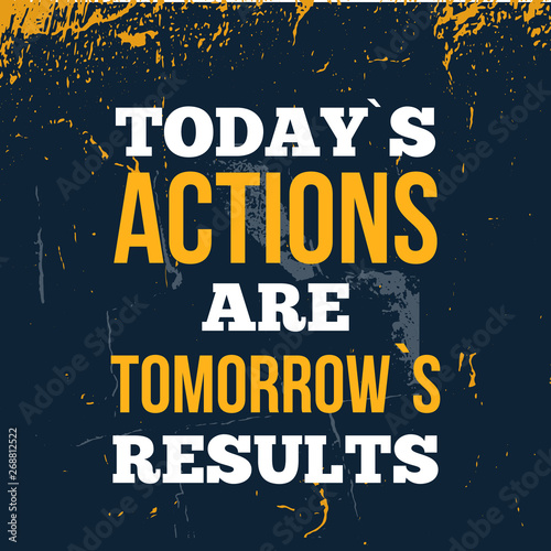 Photo Typography poster about tomorrow results