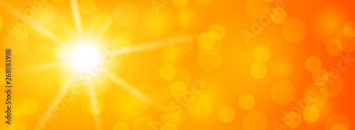 Foto Sommer Sonne Hintergrund abstrakt mit Sonnenstrahlen Banner