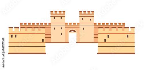 Constantinople walls vector icon Fototapeta