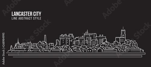 Photo Cityscape Building Line art Vector Illustration design -  Lancaster city