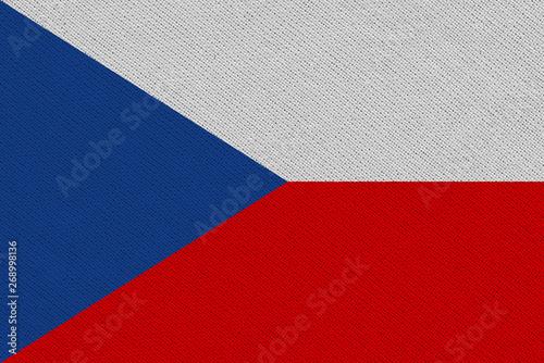 Wallpaper Mural Czech Republic fabric flag