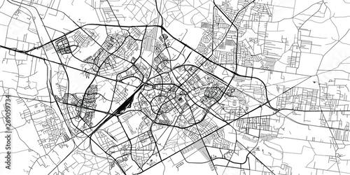Fotografie, Obraz Urban vector city map of Bialystok, Poland