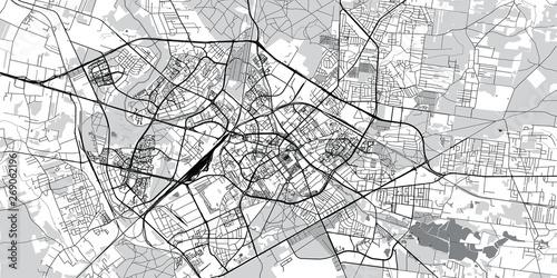 Fototapeta Urban vector city map of Bialystok, Poland