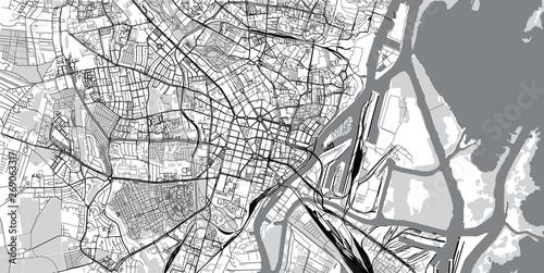 Fotografie, Obraz Urban vector city map of Szczecin, Poland
