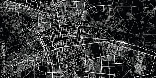 Fotografia Urban vector city map of Lodz, Poland