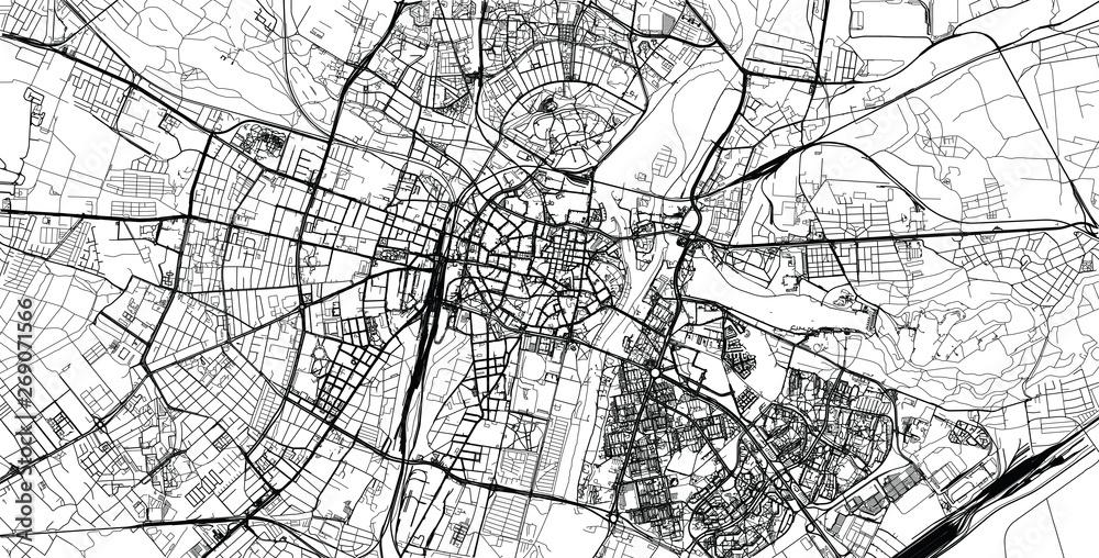 Mapa miasta wektor miejski Poznań, Polska <span>plik: #269071566 | autor: ink drop</span>