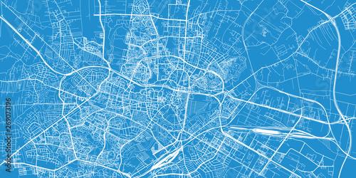 Fotografie, Obraz Urban vector city map of Lublin, Poland
