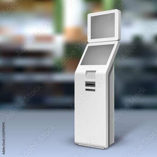 Obraz na płótnie Mockup Payment Information Terminal