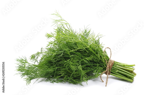 Photo Fresh green dill isolated on white background