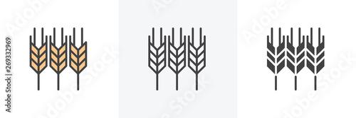 Foto Ears of wheat icon