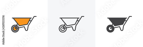 Photographie Wheelbarrow cart icon